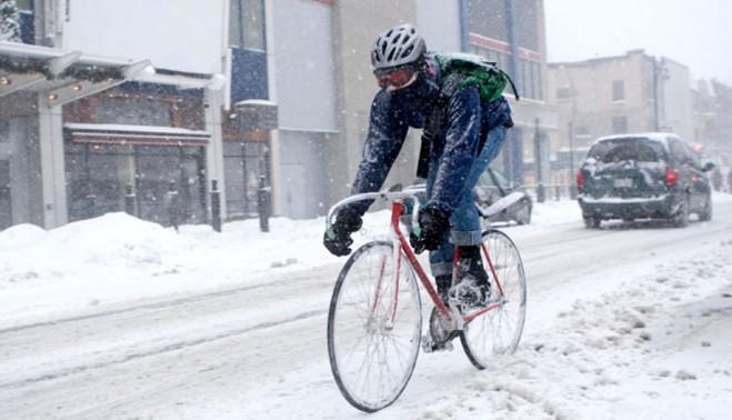 Советы для тех, кто продолжает зимой ездить на велосипеде по городу